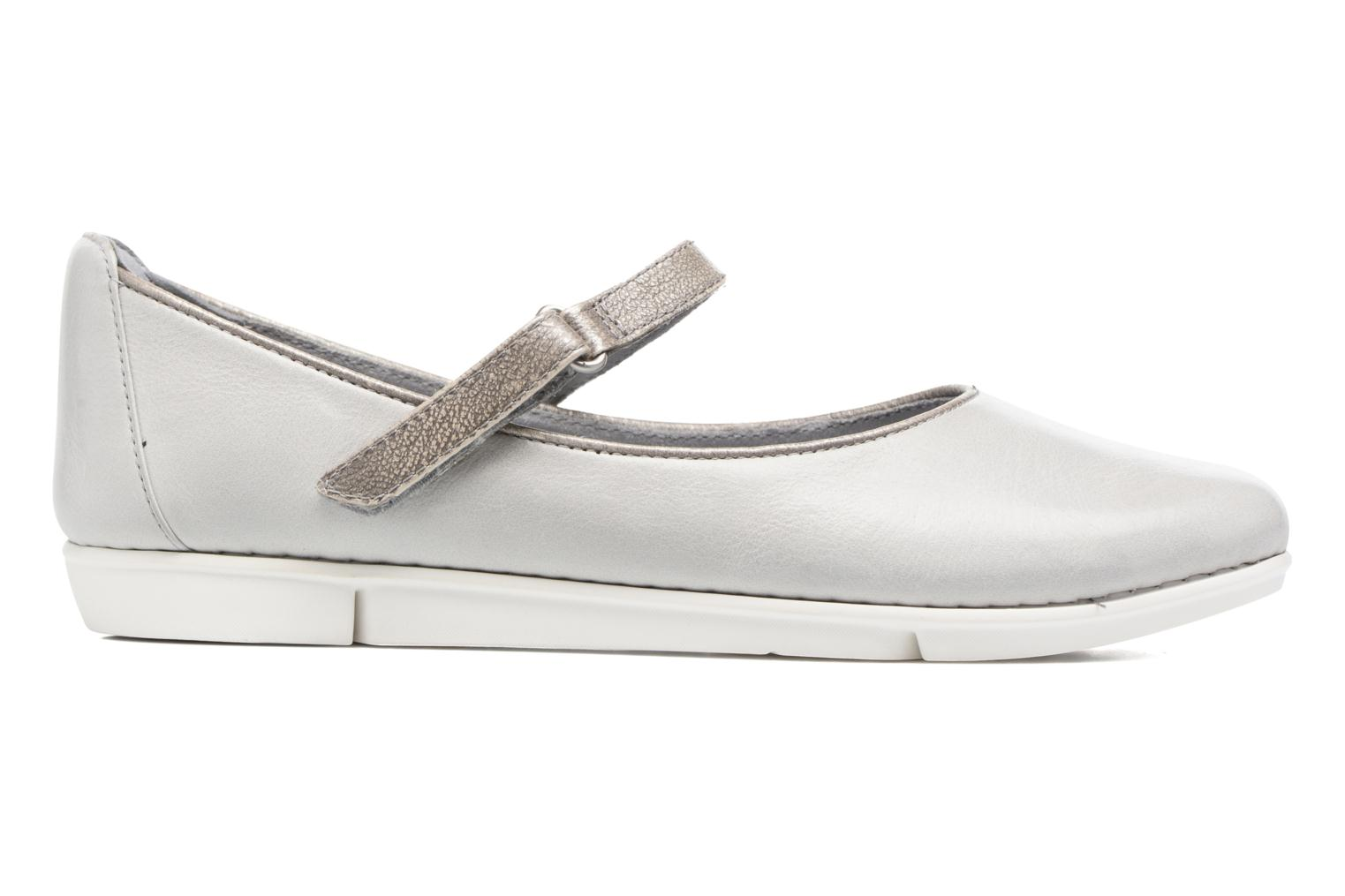 Ballet pumps Clarks Tri Axis Grey back view