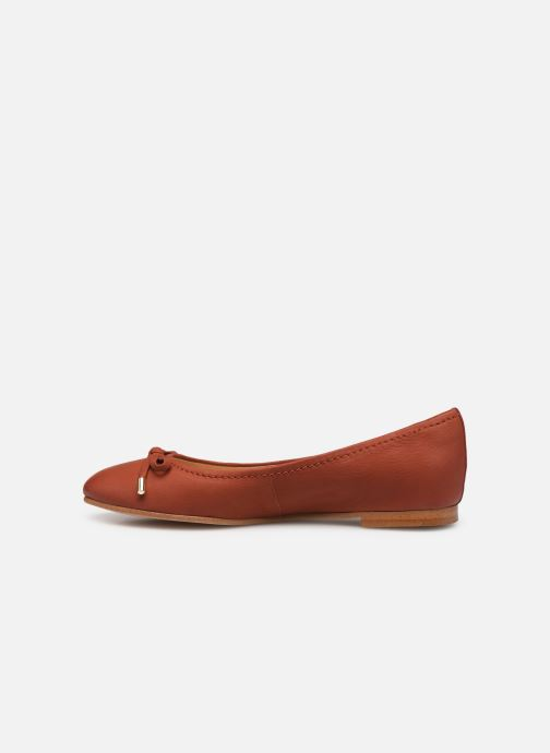 Ballerines Clarks Grace Lily Rouge vue face