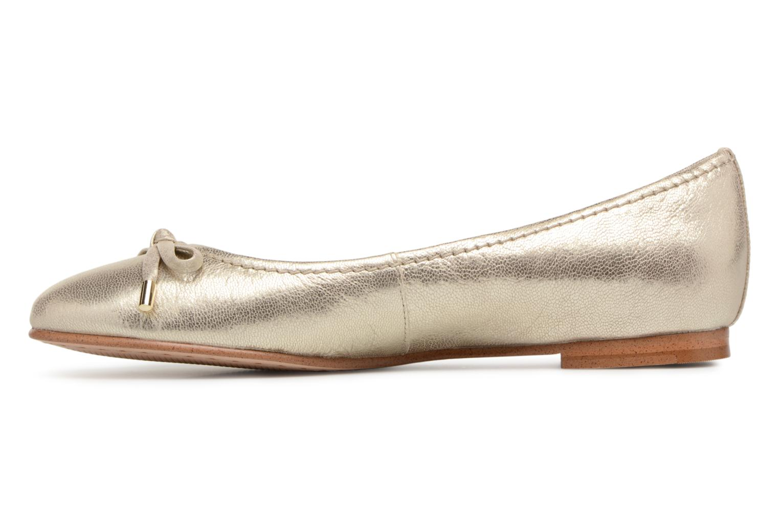 Ballet pumps Clarks Grace Lily Bronze and Gold front view