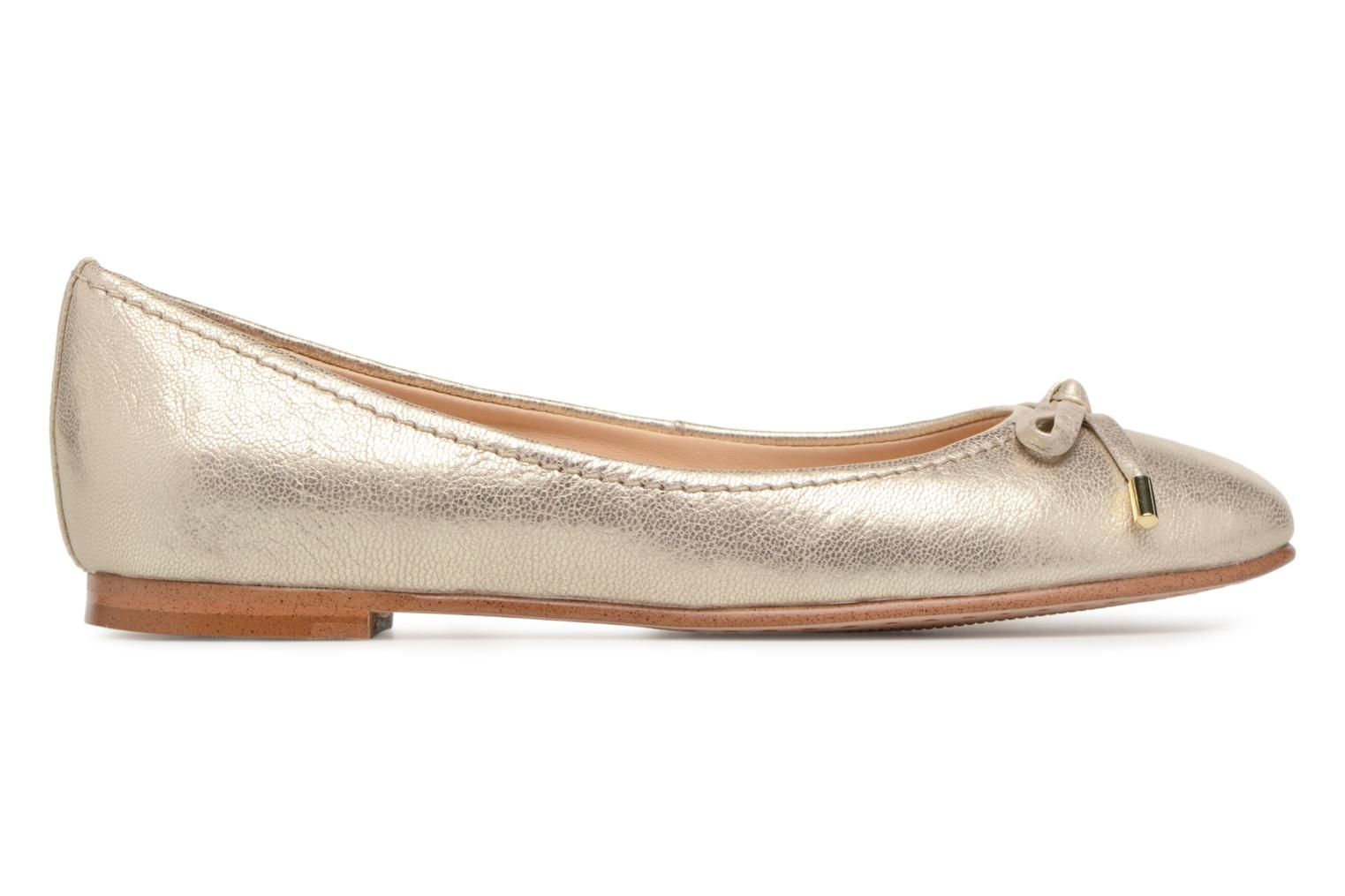 Ballet pumps Clarks Grace Lily Bronze and Gold back view