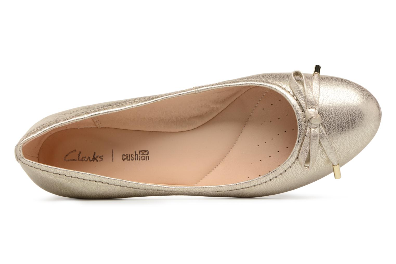 Ballet pumps Clarks Grace Lily Bronze and Gold view from the left