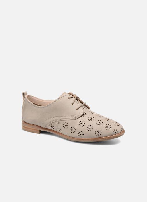 Chaussures à lacets Clarks Alania Posey Beige vue détail/paire