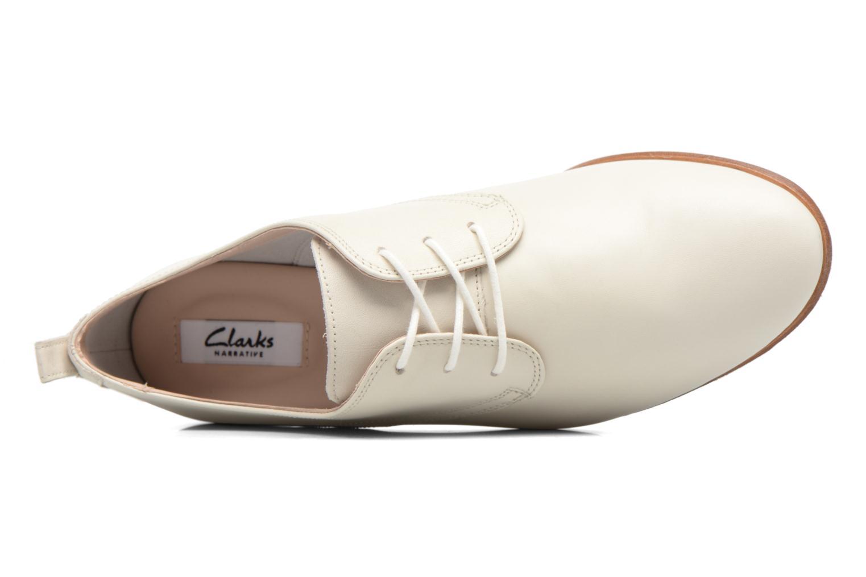 Chaussures à lacets Clarks Alania Posey Blanc vue gauche
