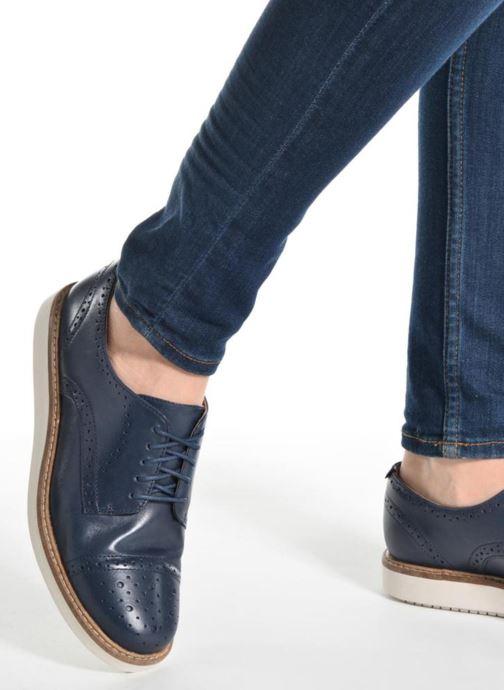 Chaussures à lacets Clarks Glick Shine Rose vue bas / vue portée sac