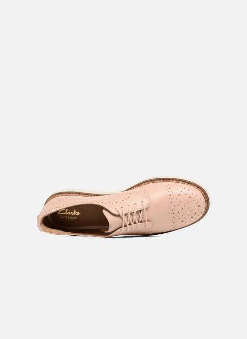 Chaussures à lacets Clarks Glick Shine Rose vue gauche
