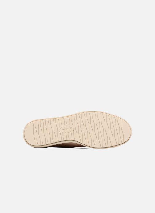 Chaussures à lacets Clarks Glick Shine Rose vue haut