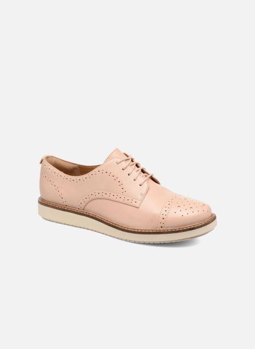 Chaussures à lacets Clarks Glick Shine Rose vue détail/paire