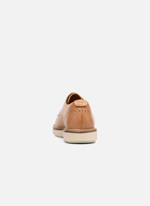 Snörade skor Clarks Glick Shine Brun Bild från höger sidan