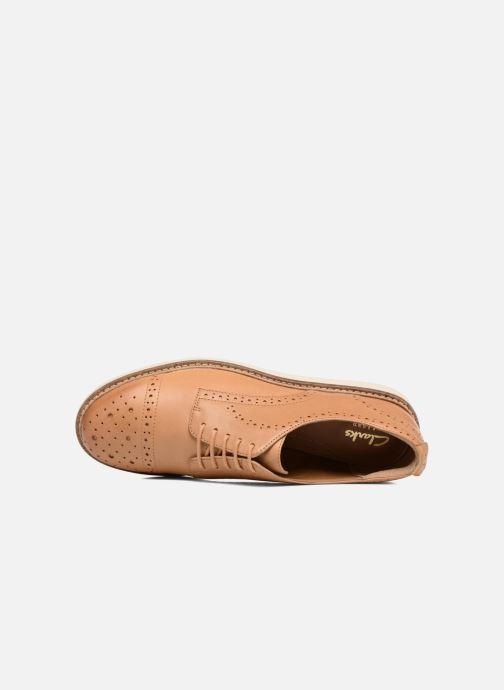 Snörade skor Clarks Glick Shine Brun bild från vänster sidan