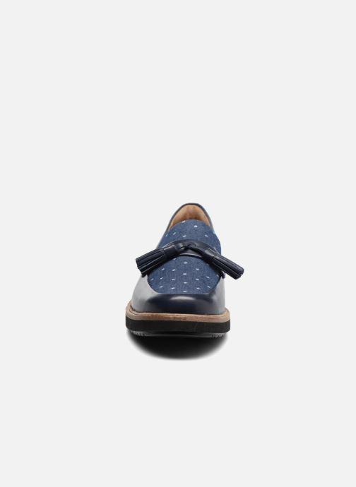Mocassins Clarks Glick Castine Bleu vue portées chaussures