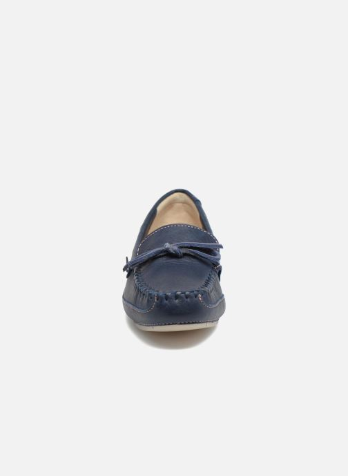 Mocassins Clarks Natala Rio Bleu vue portées chaussures
