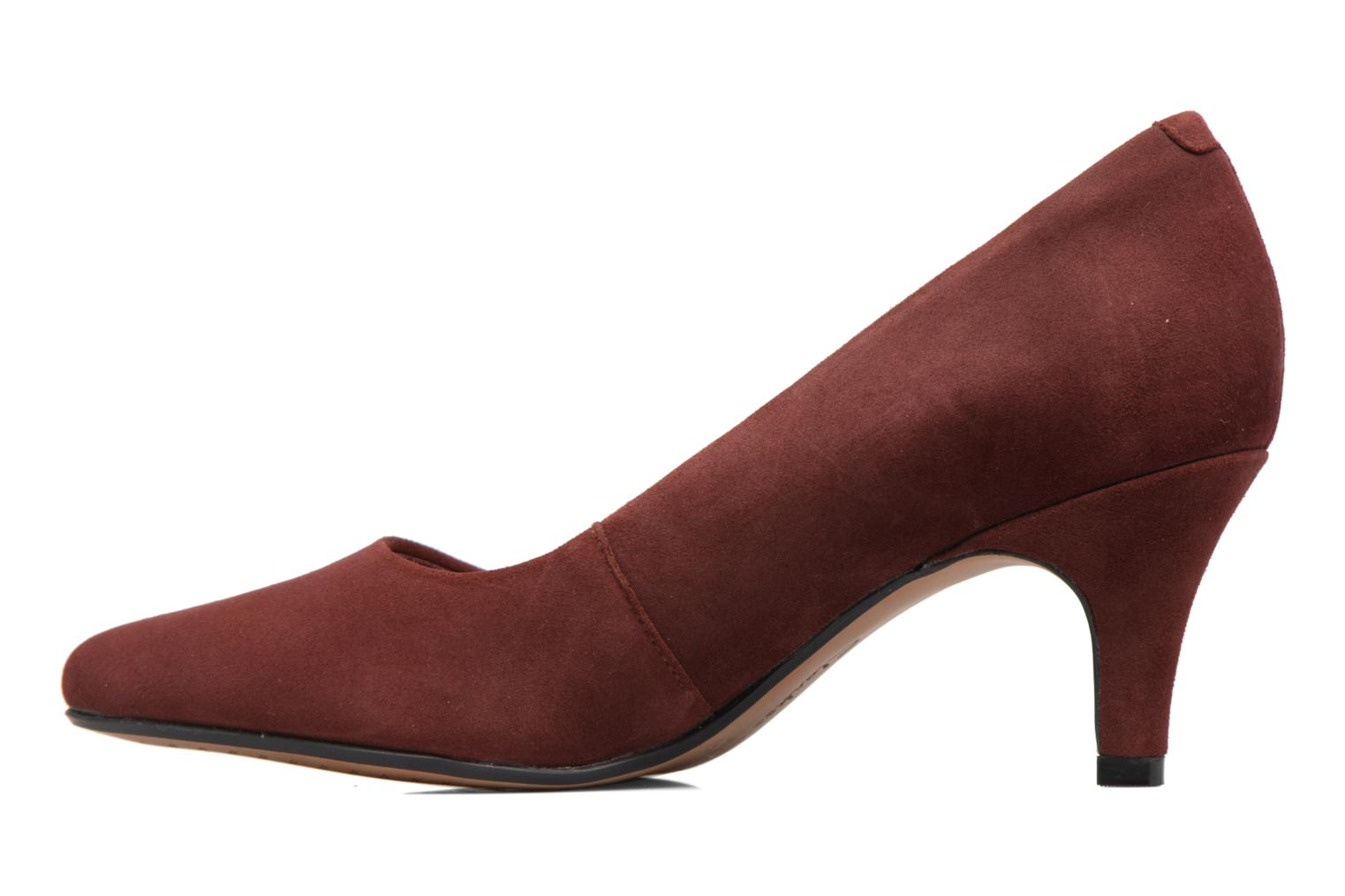 High heels Clarks Isidora Faye Burgundy front view