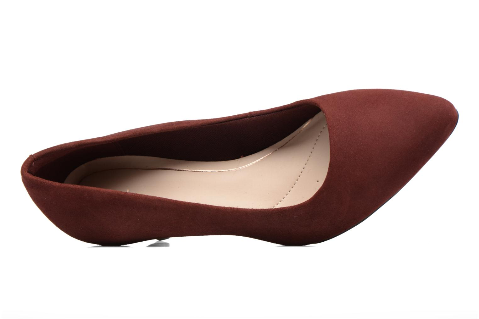 High heels Clarks Isidora Faye Burgundy view from the left