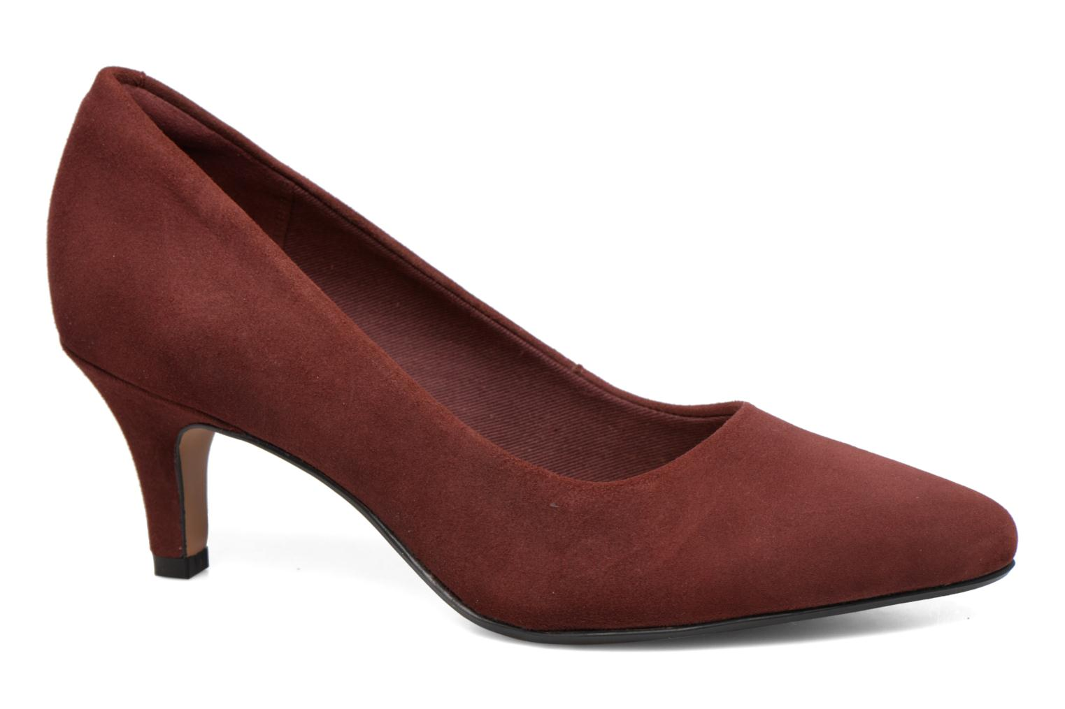 High heels Clarks Isidora Faye Burgundy detailed view/ Pair view