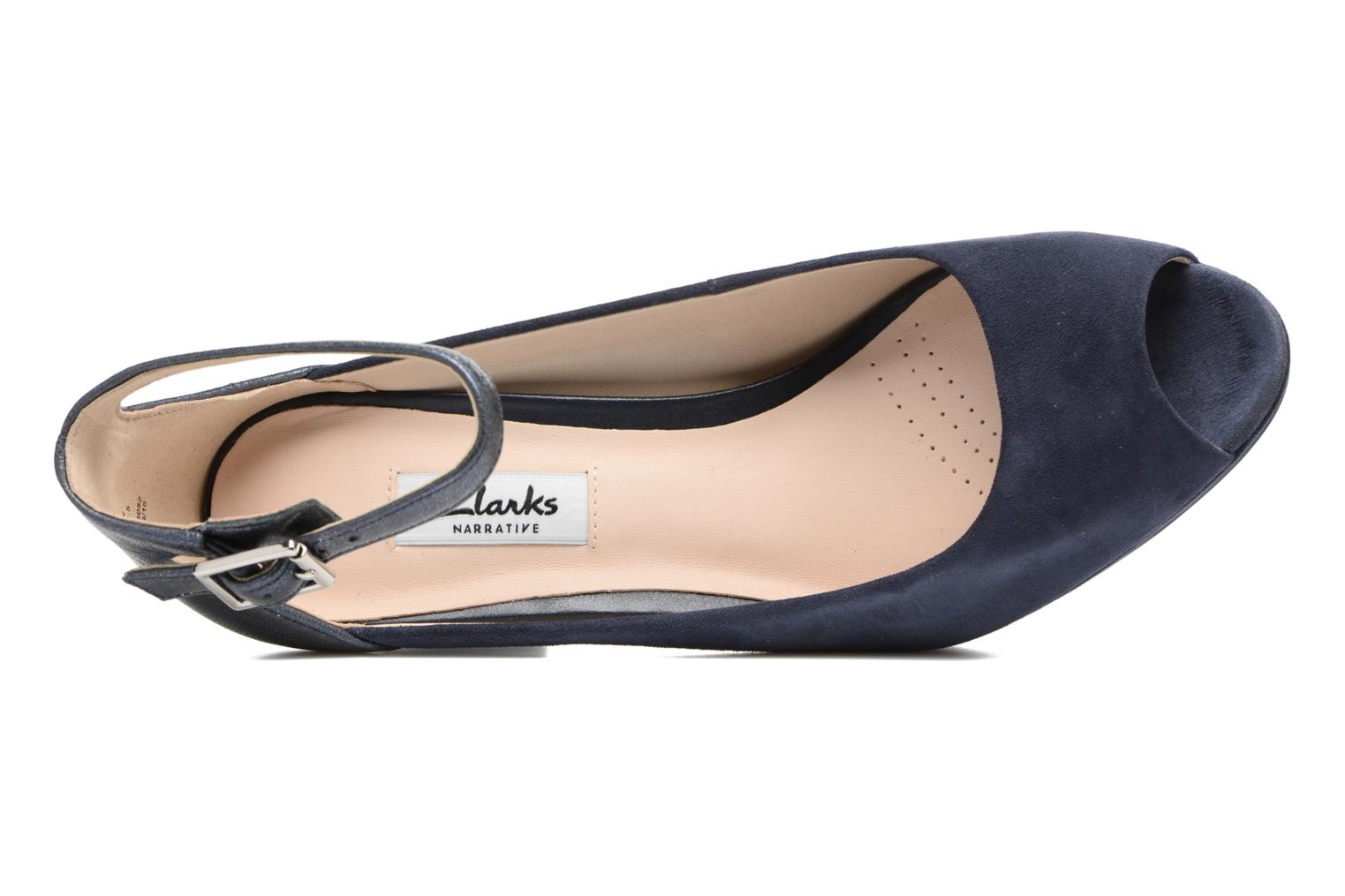 High heels Clarks Kendra Ella Black view from the left