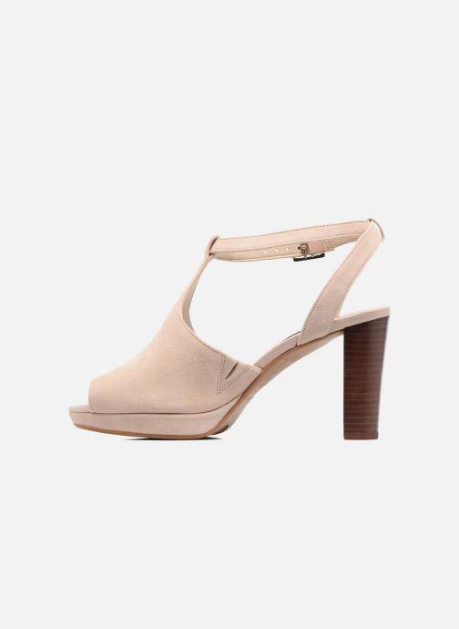 Zapatos de tacón Clarks Kendra Charm Rosa vista de frente
