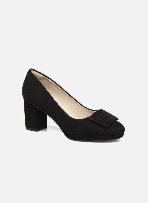 Høje hæle Clarks Kelda Gem Sort detaljeret billede af skoene
