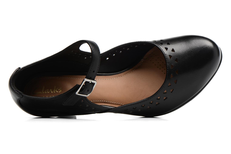 Zapatos de tacón Clarks Chorus Chime Negro vista lateral izquierda