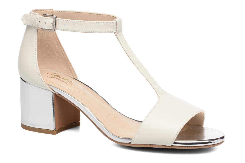 Sandaler Clarks Barley Belle Hvid detaljeret billede af skoene