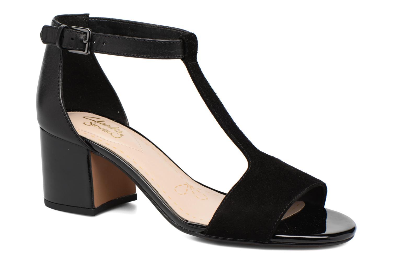 Sandaler Clarks Barley Belle Sort detaljeret billede af skoene