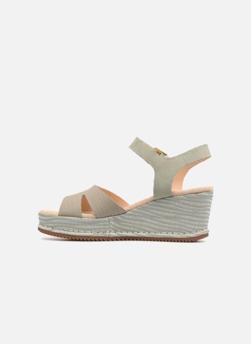 Sandales et nu-pieds Clarks Akilah Eden Vert vue face