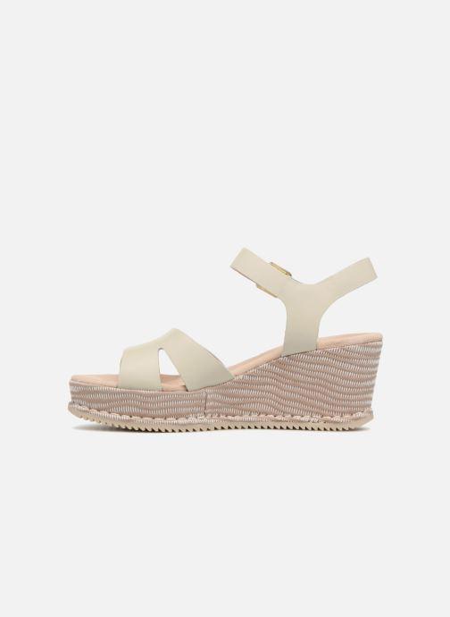 Sandales et nu-pieds Clarks Akilah Eden Blanc vue face