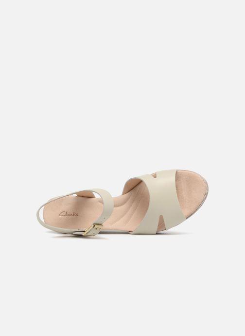 Sandales et nu-pieds Clarks Akilah Eden Blanc vue gauche