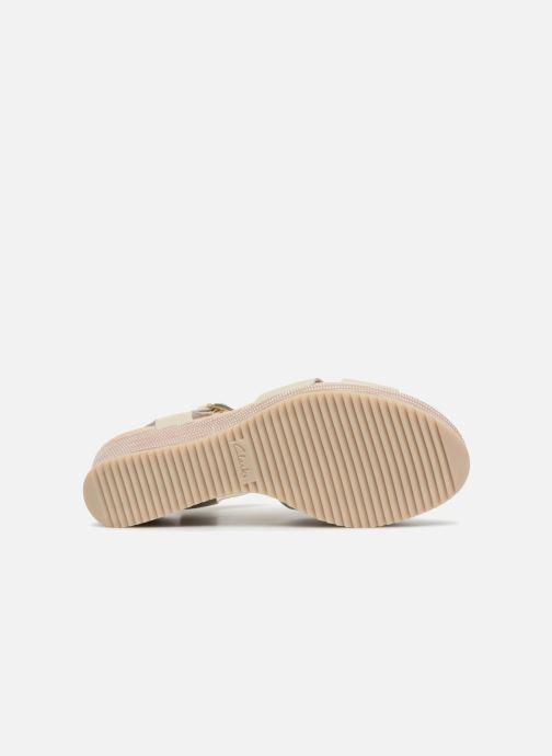 Sandales et nu-pieds Clarks Akilah Eden Blanc vue haut