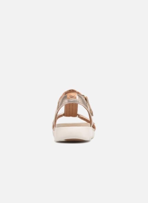 972c8b478816 Sandals Clarks Unstructured Un Haywood Bronze and Gold view from the right