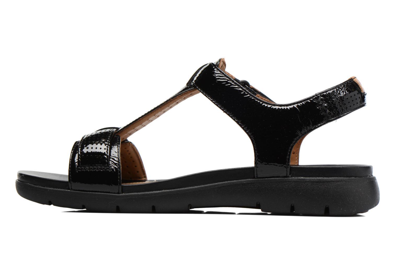 Sandales et nu-pieds Clarks Unstructured Un Haywood Noir vue face