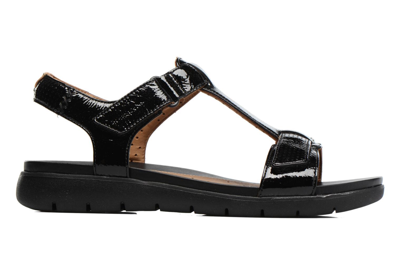 Sandales et nu-pieds Clarks Unstructured Un Haywood Noir vue derrière