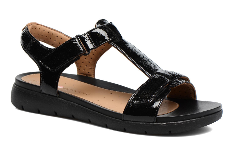 Sandales et nu-pieds Clarks Unstructured Un Haywood Noir vue détail/paire