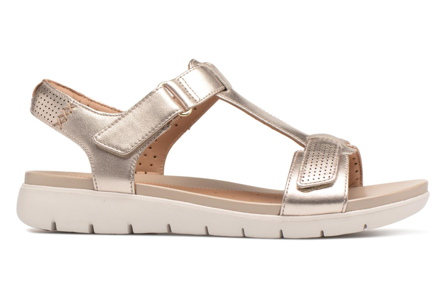 Sandals Clarks Unstructured Un Haywood Bronze and Gold back view
