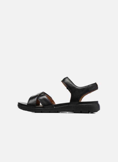 Sandales et nu-pieds Clarks Unstructured Un Saffron Noir vue face