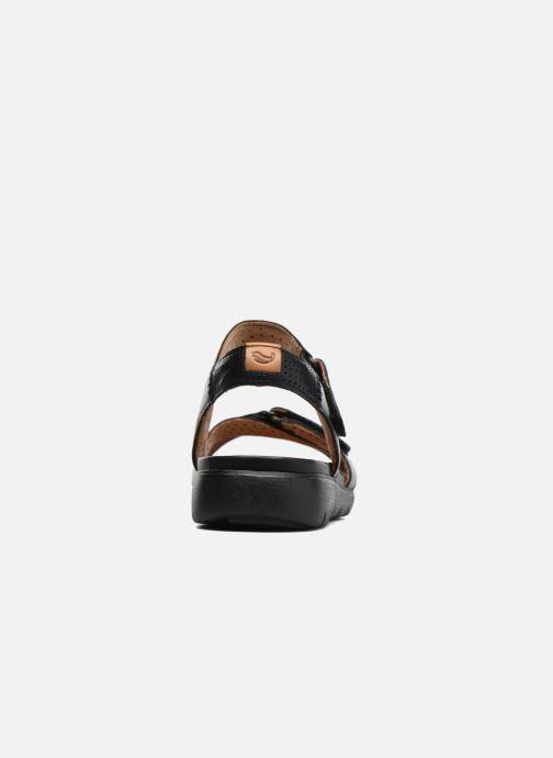 Sandales et nu-pieds Clarks Unstructured Un Saffron Noir vue droite