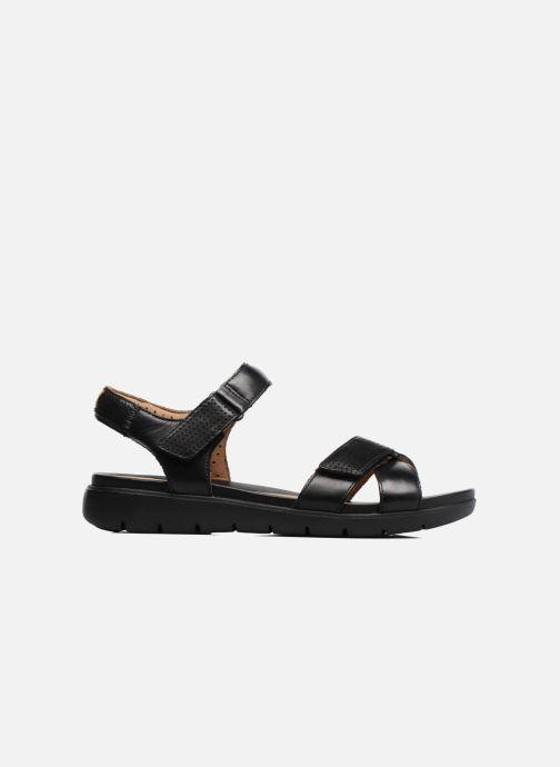Sandales et nu-pieds Clarks Unstructured Un Saffron Noir vue derrière