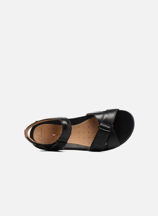 Sandales et nu-pieds Clarks Unstructured Un Saffron Noir vue gauche