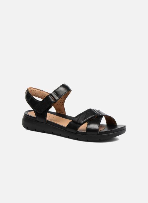 Sandales et nu-pieds Clarks Unstructured Un Saffron Noir vue détail/paire