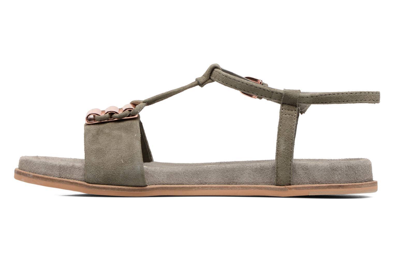 Sandales et nu-pieds Clarks Agean Cool Gris vue face