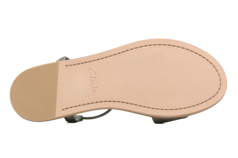 Sandales et nu-pieds Clarks Agean Cool Gris vue haut