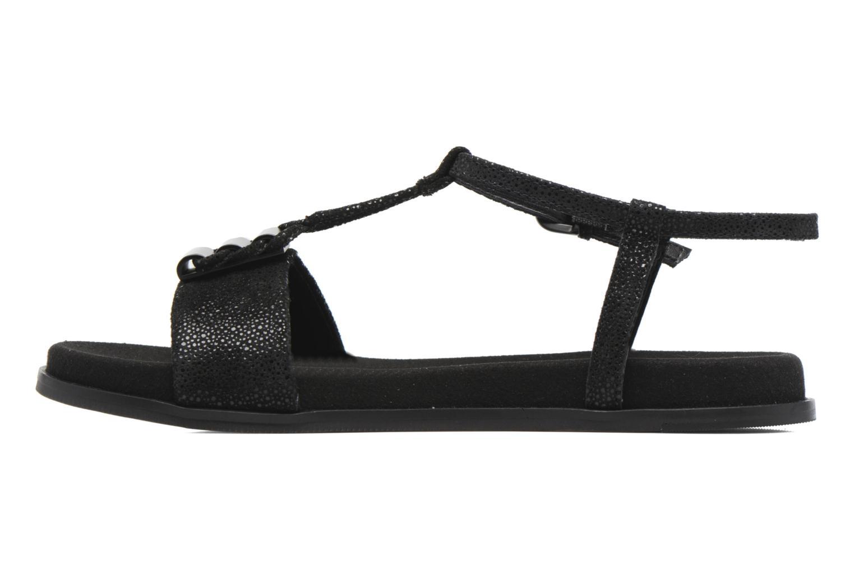 Sandales et nu-pieds Clarks Agean Cool Noir vue face