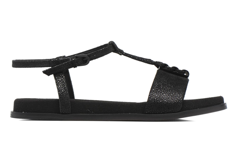 Sandales et nu-pieds Clarks Agean Cool Noir vue derrière