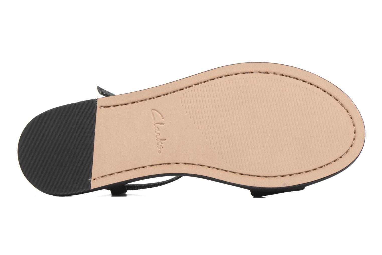 Sandales et nu-pieds Clarks Agean Cool Noir vue haut