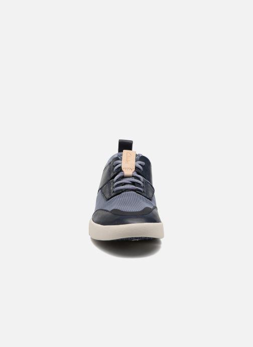Baskets Clarks Tri Soul Bleu vue portées chaussures
