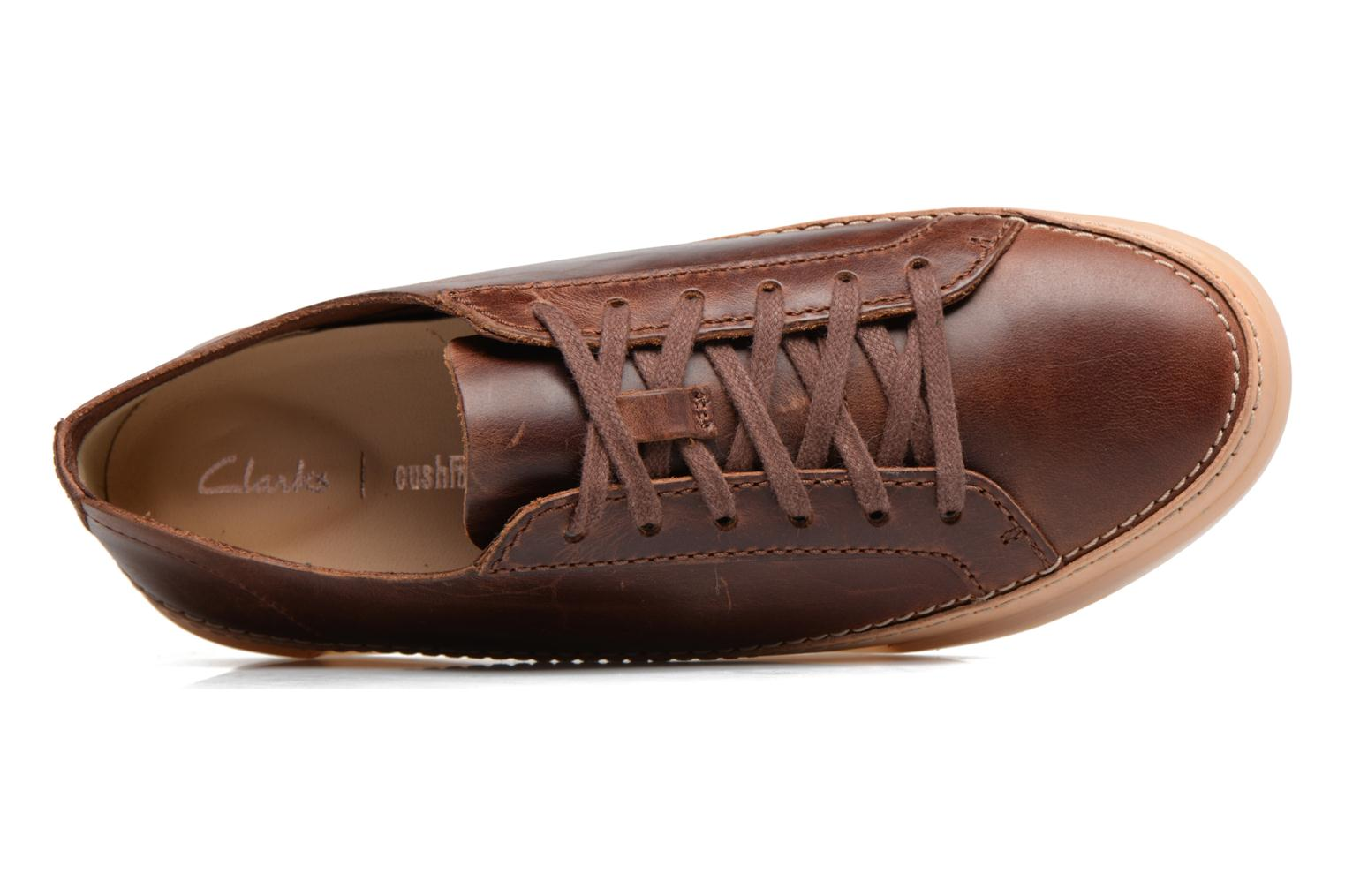 Trainers Clarks Hidi Holly Brown view from the left