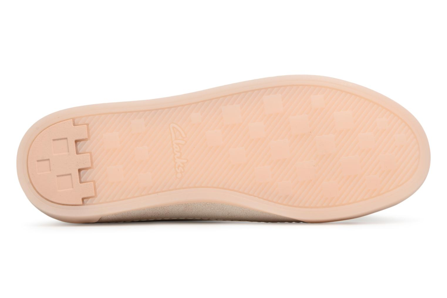 Trainers Clarks Hidi Holly Beige view from above
