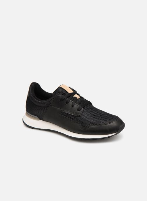 Sneakers Clarks Floura Mix Sort detaljeret billede af skoene