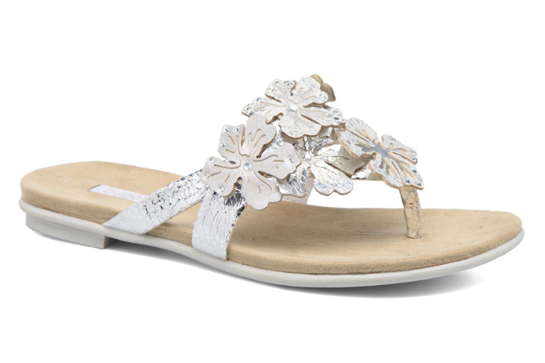 Sandales et nu-pieds Bugatti Jasmin W5978-6N Argent vue détail/paire
