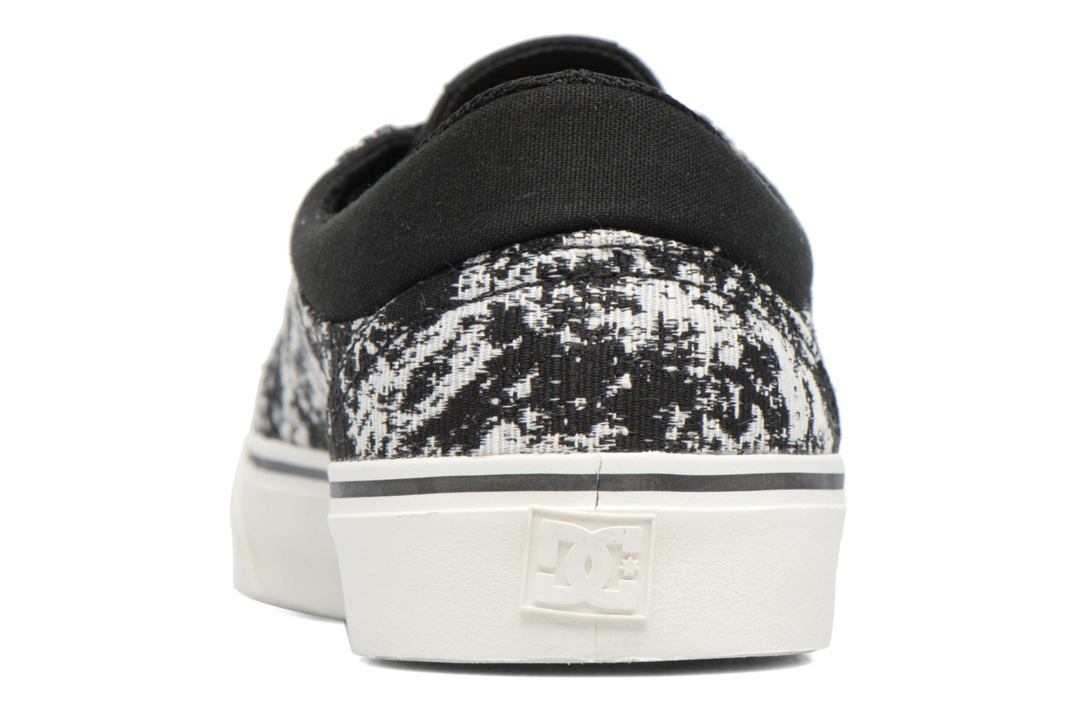 Trainers DC Shoes Trase Tx Le M Black view from the right