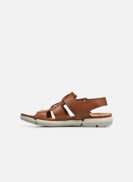 Sandals Clarks Trisand Bay Brown front view
